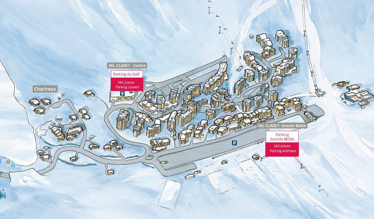 Park your car in Tignes Where to park during your ski holiday in